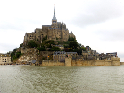 Mont St-Michel at high tide