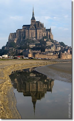 Reflection of Mont St-Michel, Normandy, France