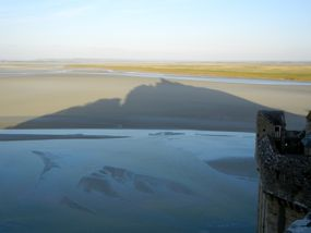 Shadow of Mont St-Michel, Normandy, France