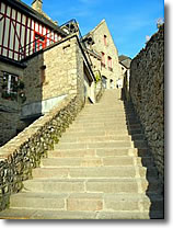 Stairs on Mont-St-Michel, Normandy, France