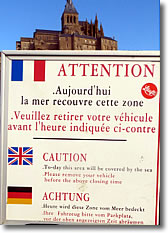 Mont St Michel tide warning