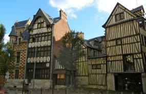 Half-timbered buildings, Rouen, Normandy, France