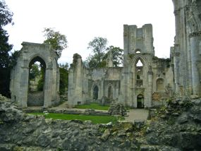 Ruins of Jumièges Abbey, near Rouen, France