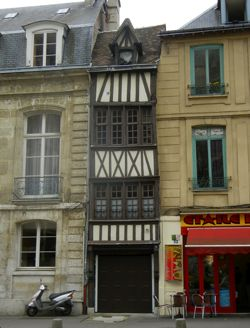 Tiny half-timbered house, Rouen, France