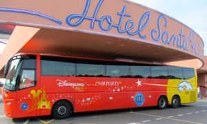 Disneyland bus to CDG, Paris, France