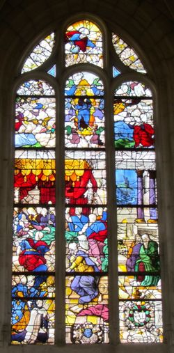 Stained glass, St-Acceul, Ecouen, France