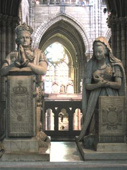 Statues of Louis XVI and Marie-Antoinette, St-Denis, France