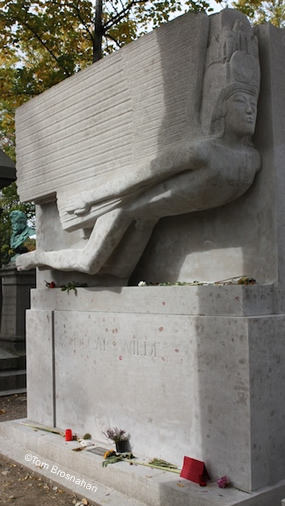 Oscar Wilde's Tomb, Pere LaChaise Cemetery, Paris, France