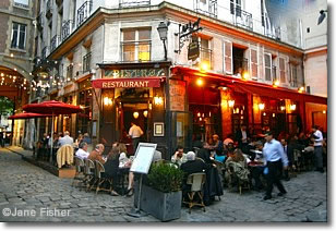 caf restaurant on rue de buci paris france