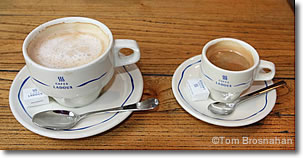 French coffee: café au lait & café noir, Paris, France