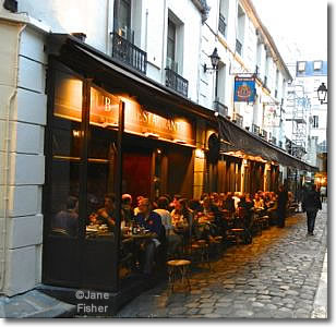 Diners in the Cour St-André, Paris