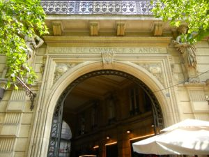 Beautiful arched entryway of the Cour St-André, Paris