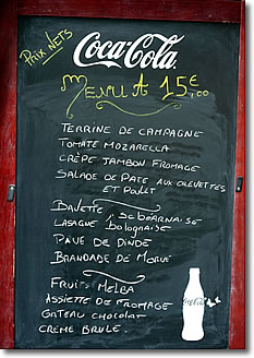 French Cafe Menu Prices In Euros