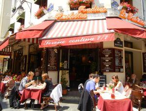 Rue Mouffetard Restaurants, Paris, France