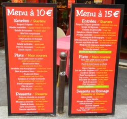 Menus, Paris, France