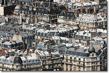 Cityscape: Roofs of Paris, France