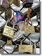 Love locks, Paris, France