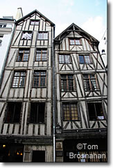Medieval half-timbered houses in Paris, France