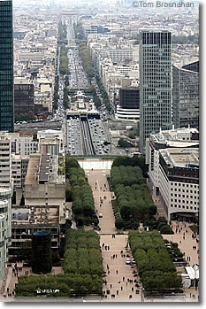 View from atop the Arche de la Défense, Paris, France