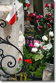 Chopin's tomb, Pere Lachaise, Paris, France