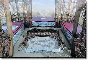 Artist's conception of Eiffel Tower glass floor, Paris, France