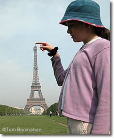 Kid at Eiffel Tower, Paris, France