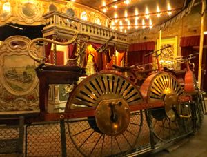 Antique bicycle ride at the Musée des Arts-Forains, Paris, France