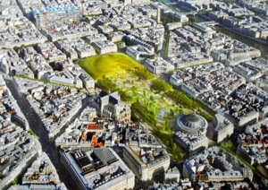 The plan for Les Halles, Paris