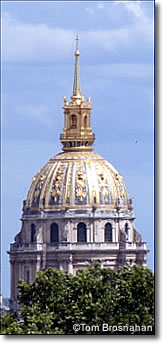 Gilded dome of Les Invalides, Paris, France