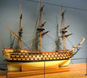 Ship model, Musee de la Marine, Paris