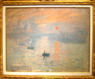 Impression Sunrise, Monet, Paris