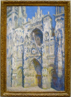 One of Monet's paintings of the Rouen Cathedral, France