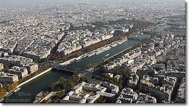 View of the Seine & Paris from the Eiffel Tower
