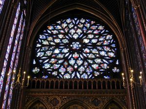 Ste-Chapelle, Rose window, Paris