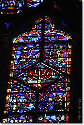 Stained glass window, Sainte-Chapelle, Paris, France
