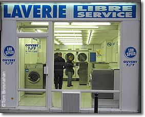 Laundromat/Laundrette, Paris, France