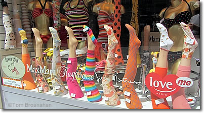 Colorful stockings, Paris, France
