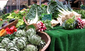 Fresh produce, Batignolles market, Paris