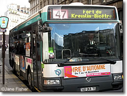 City bus, Paris, France