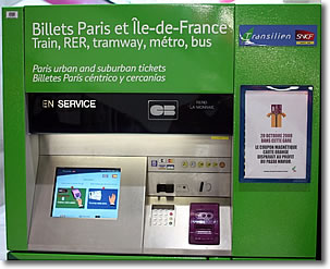 Paris Train Ticket Machine