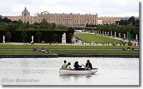 Boating on the Grand Canal, Chateau de Versailles, France