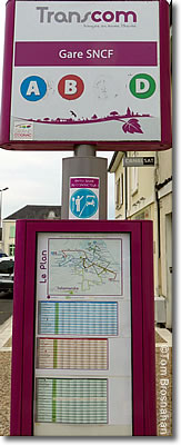 Transcom bus sign, Cognac, France
