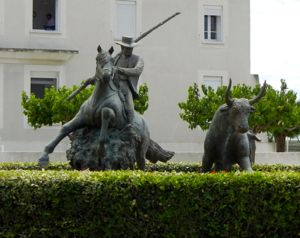 Bull fighting monument, Les Saintes-Maries-de-la-Mer, France
