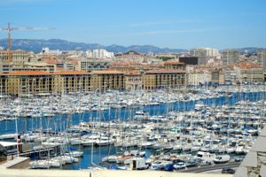 Boats in the Vieux Port, Marseille, France