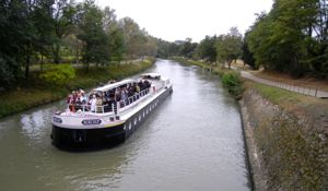 Excursion boat, Canal du Midi, France