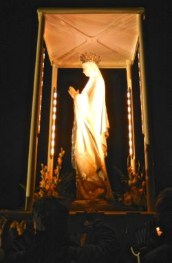Statue of Virgin Mary, Lourdes, France