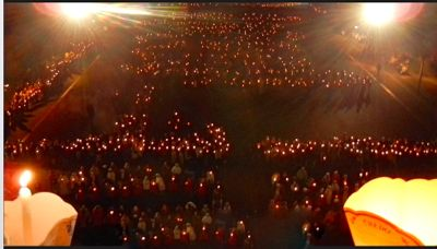 Lourdes Torchlight Procession, France