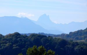 View of the Pyrenees, Pau, France