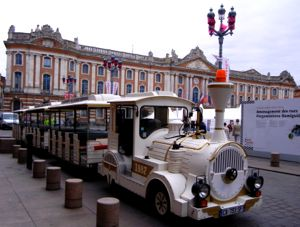 Petit train and Capitole, Toulouse, France