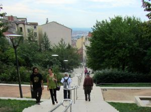 Walking from Croix-Rousse, Lyon, France